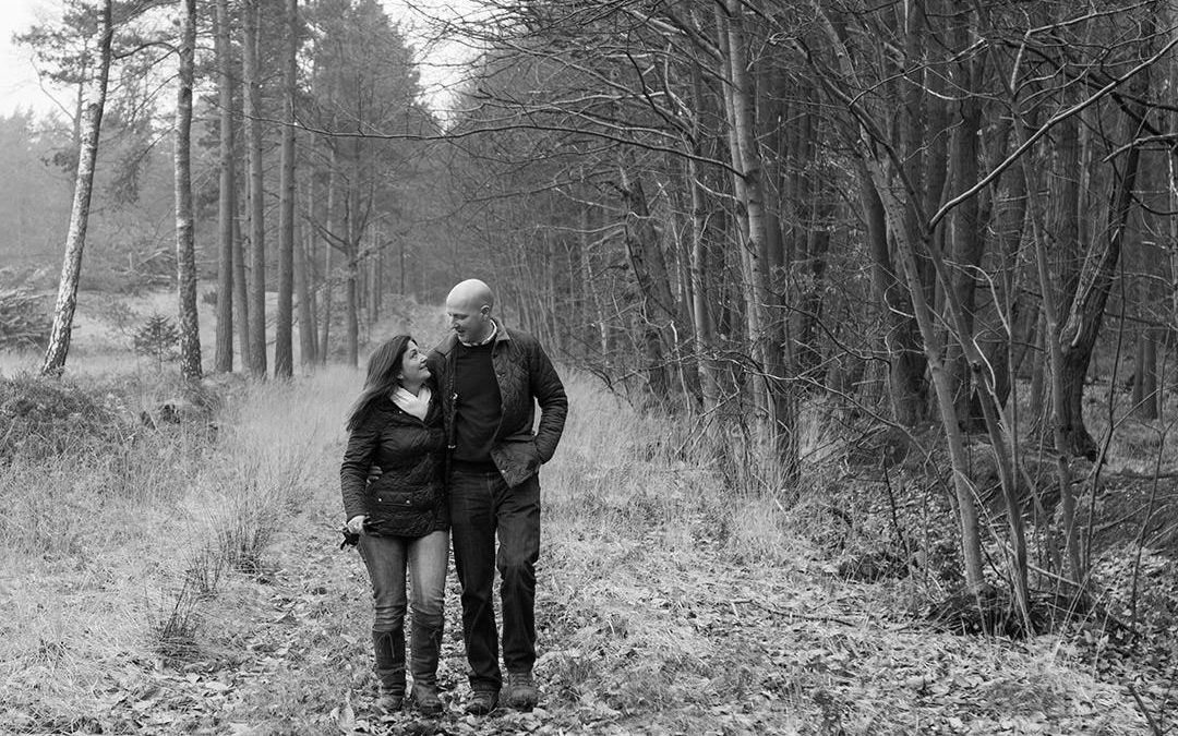 Swinley Forest Pre-wedding photography || Andy & Clare