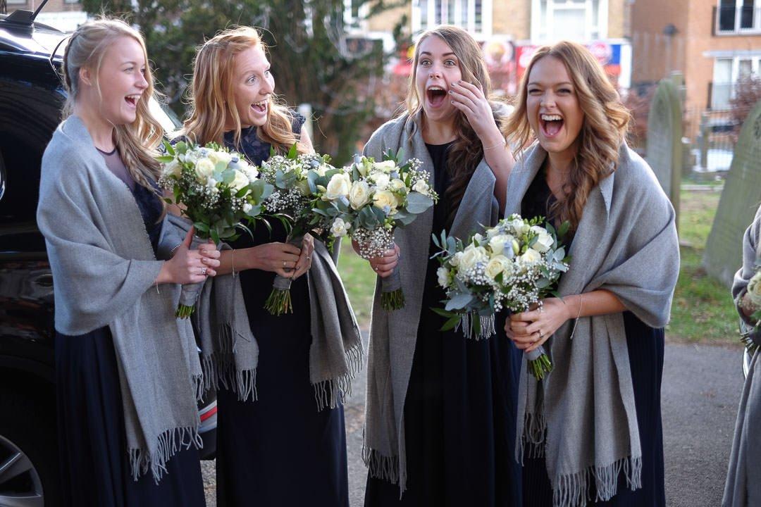 stunned bridesmaids hear the good news