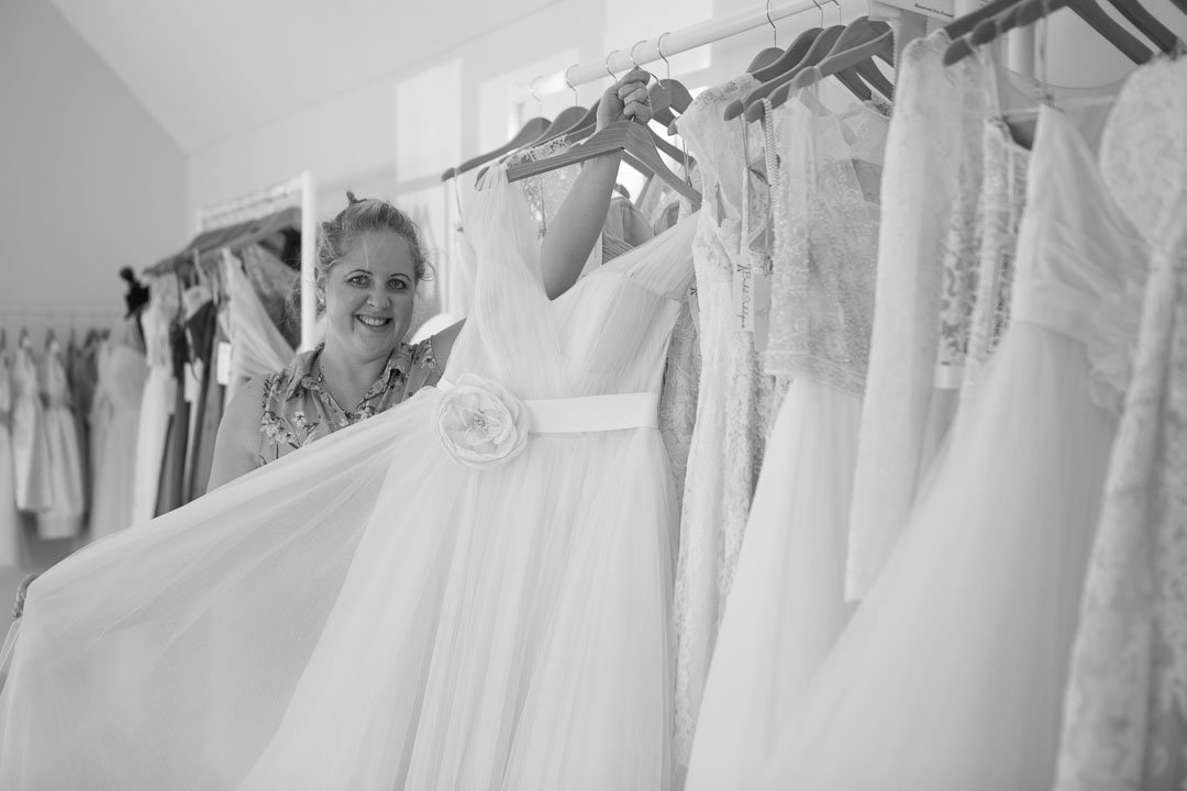 Kerri Ashworth owner of Bridal Indulgence, bridal shop near Farnham Surrey