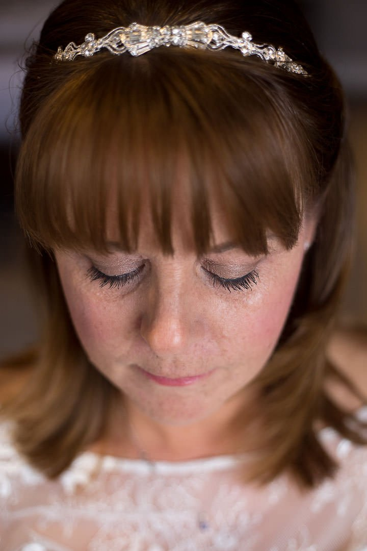 Close up photo of the bridal make-up at Oakley Hall in Hampshire