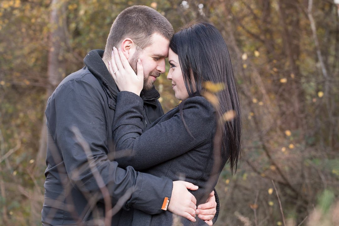 couple engagement photography session at Fleet pond in Hampshire