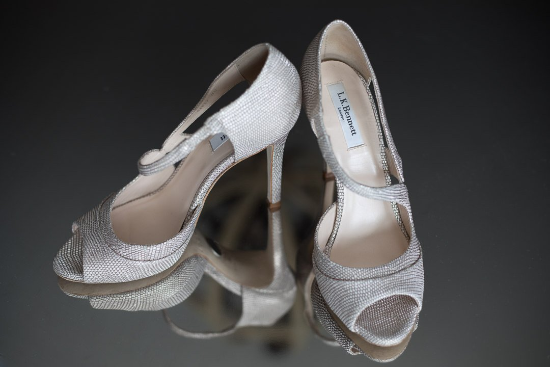 L K Bennett wedding shoes at Barnett Hill Hotel