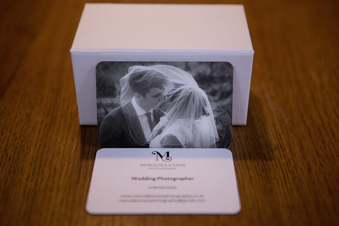 Mercedes Evans Photography business card