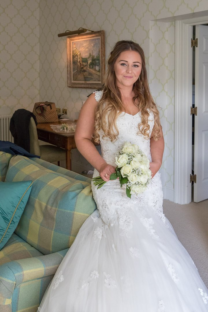 Bridal portrait at The Vineyard in stockcross near Newbury