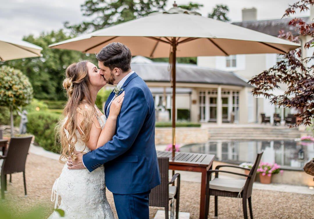 bride and groom at the Vineyard