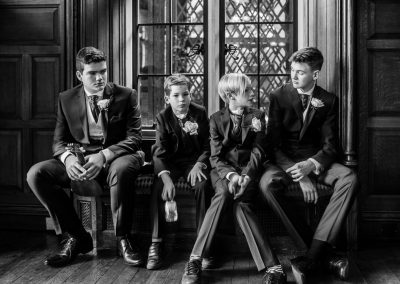 young groomsmen wait for the wedding ceremony to start at the Elvetham Hotel near Hartley Wintney -0001