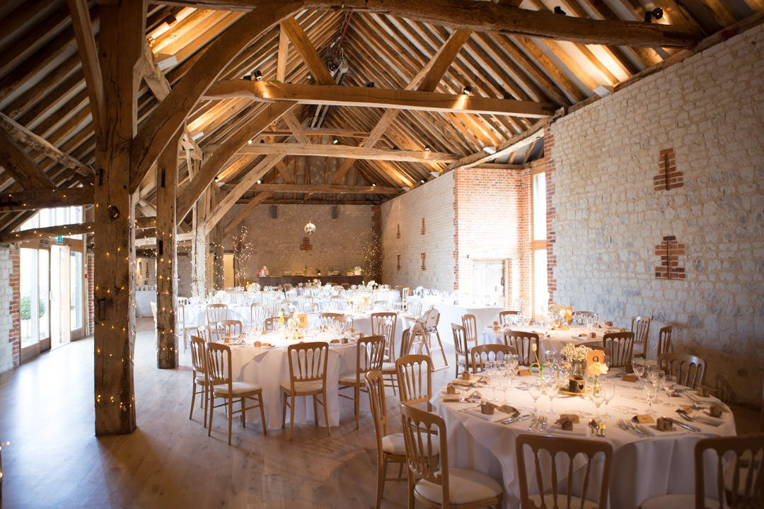 Bury Court Barn wedding venue in the Surrey countryside near Farnham