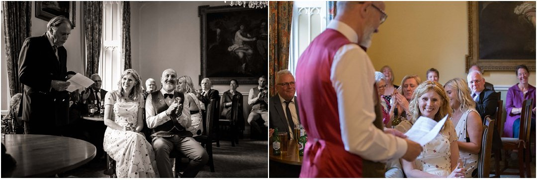 wedding speeches at Monk Coniston