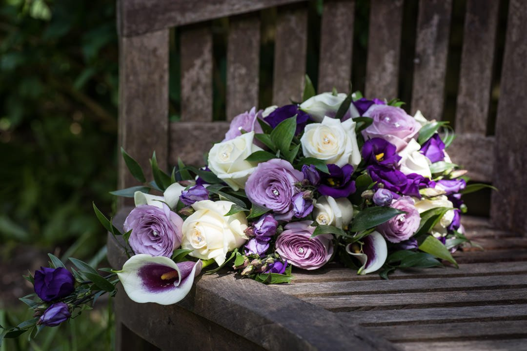 cream and dusky pink roses and calla lily wedding bouquet