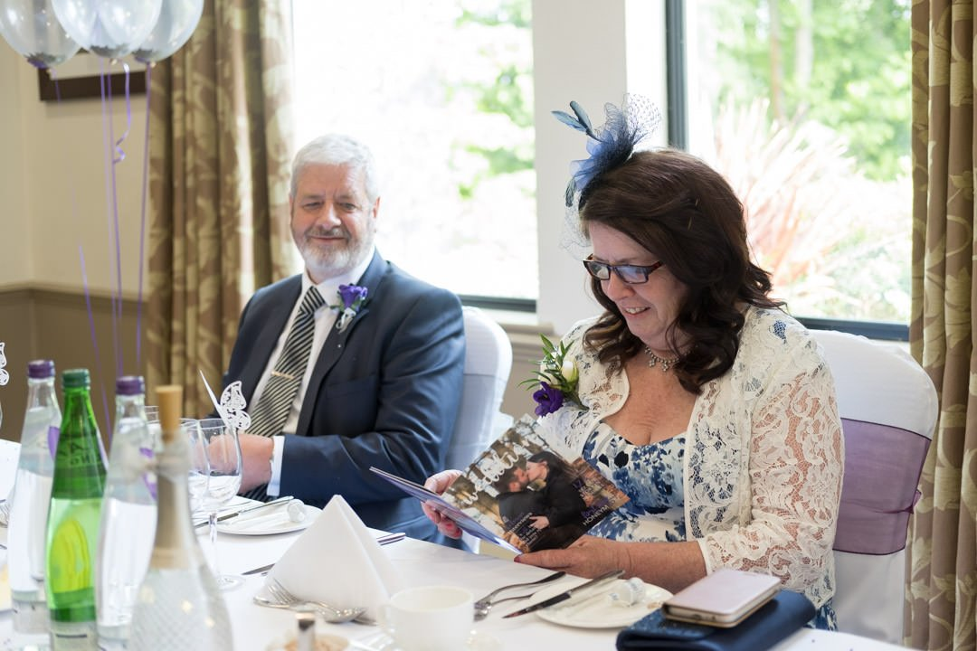 guests enjoy reading the Wedition magazine at Frimley Hall Hotel