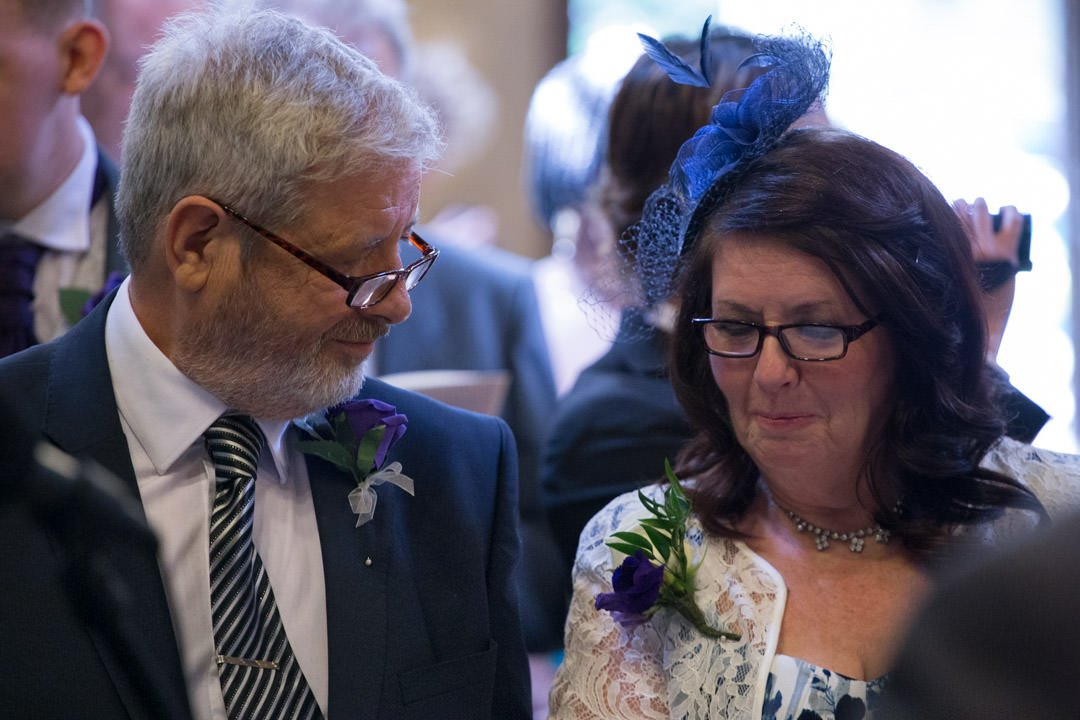 parents of the groom in church