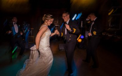 Winter wedding at the Ward Room, Portsmouth